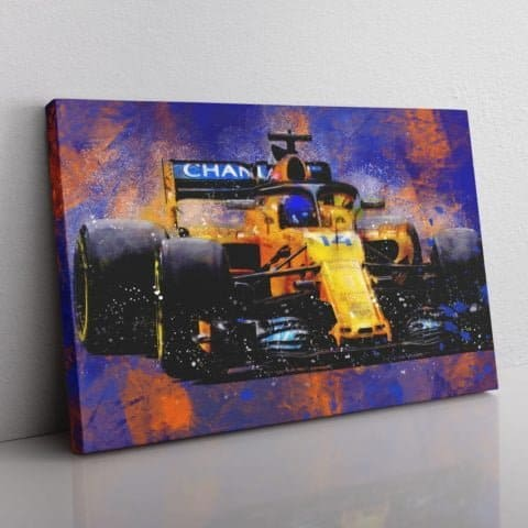 Fernando Alonso F1 Canvas