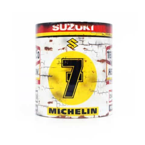 Vintage Barry Sheene Suzuki #7 Motorcycle Mug