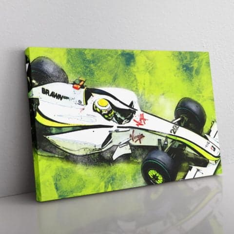 Jensen Button F1 Canvas Wall Art