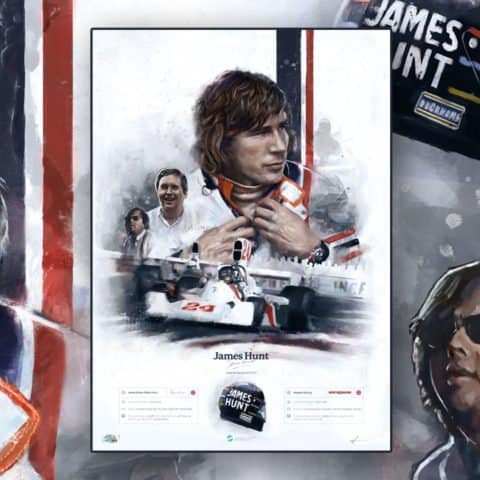 James Hunt, Hesketh Racing 1973-1975 – Artist signed run of 100