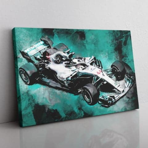 Lewis Hamilton F1 Canvas Wall Art