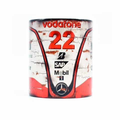 Vintage McLaren-Mercedes MP4-23 F1 Mug / Formula One World Champion 2008 / Lewis Hamilton / Classic / Coffee / Retro / Vodafone
