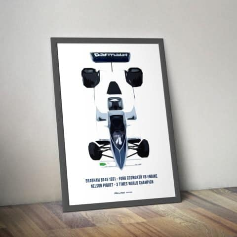 BRABHAM BT49 1981 - FORD COSWORTH V8 ENGINE NELSON PIQUET - 3 TIMES WORLD CHAMPION