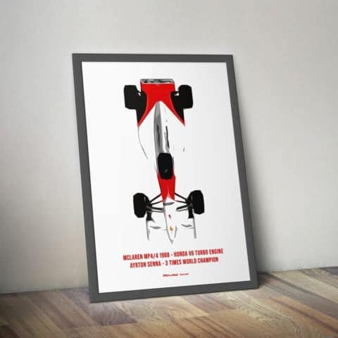 MCLAREN MP4/4 1988 - HONDA V6 TURBO ENGINE AYRTON SENNA - 3 TIMES WORLD CHAMPION