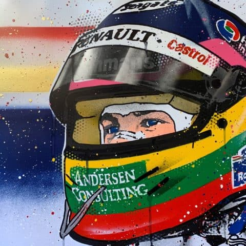 Jacques Villeneuve - Graffiti painting