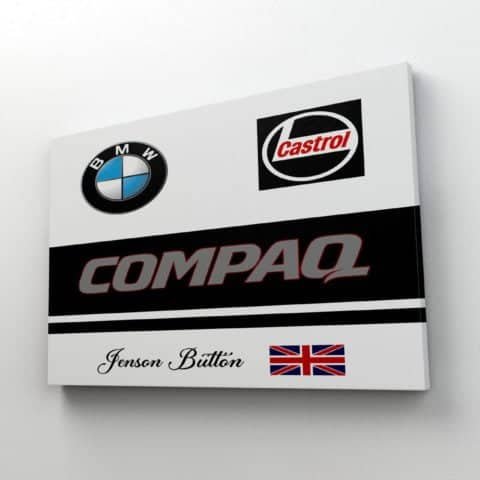 F1 Jenson Button BMW Williams Race Suit / Overalls Inspired Canvas - 100% Pure Cotton - Made In Scotland