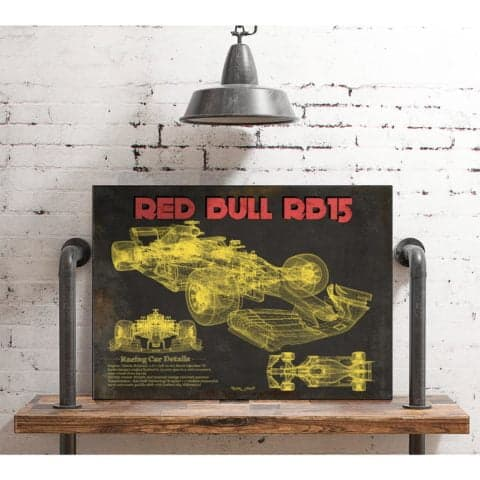 Red Bull RB15 F1 Vintage Race Car Print
