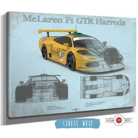 Mclaren F1 GTR Harrods Race Car Print