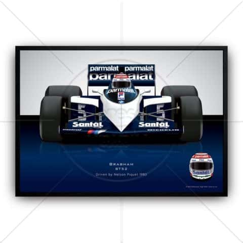 Nelson Piquet 1983 Brabham BT52 Formula 1 racing car wall art poster print