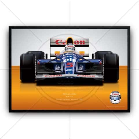 Nigel Mansell 1992 Williams Formula 1 racing car wall art poster print