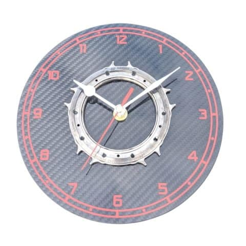 Lotus F1 titanium gearbox part wall clock real carbon fiber Formula 1 racing motorsport engineering office guys mans workshop gift