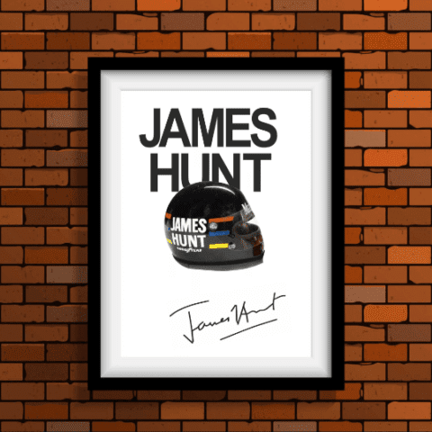 James Hunt F1 Formula One Poster Print