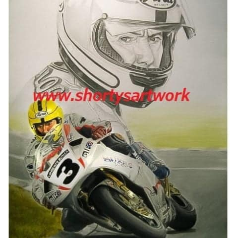 Joey Dunlop 20. Limited edition print released for Joey's 20th anniversary.