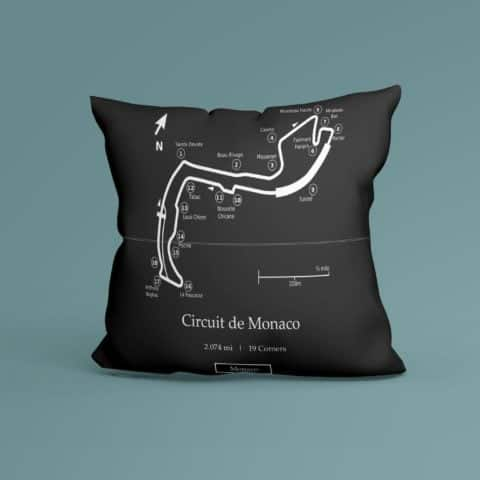 F1 Monaco Grand Prix Race Track Inspired Cushion - 100% High Quality Pure Cotton - Made In Scotland