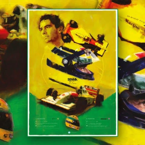 Ayrton Senna, McLaren Formula 1 Wall Art – Limited edition of 100