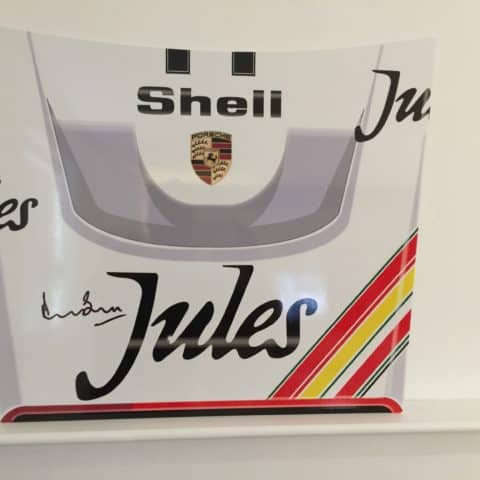 Jules Porsche Le Mans Race car panel wall art - LIMITED EDITION Signed by Derek Bell. Ideal for man cave, office etc. (Copy) (Copy)