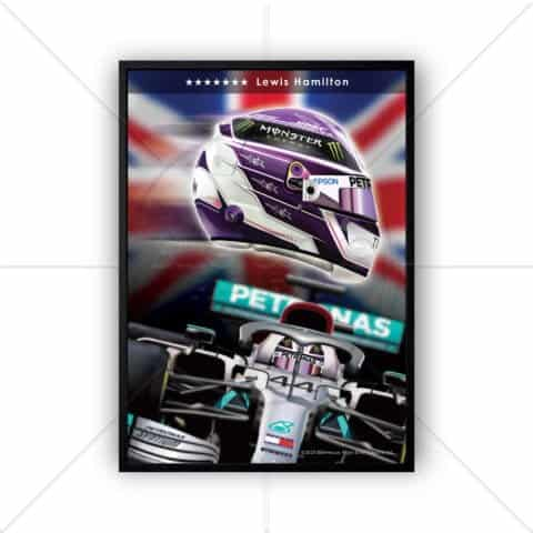 F1 Lewis Hamilton 2020 7 x World Champion Impact Poster print wall art