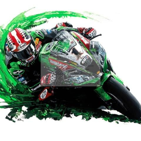 Jonathan Rea 4-Time Word Superbike Champion - Giclee Print