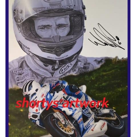 William Dunlop. William the conqueror, Pencil and acrylic print (Copy)