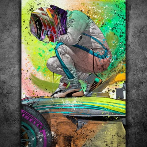 LEWIS HAMILTON TRIBUTE 2020 - GRAFFITI STYLE ARTWORK