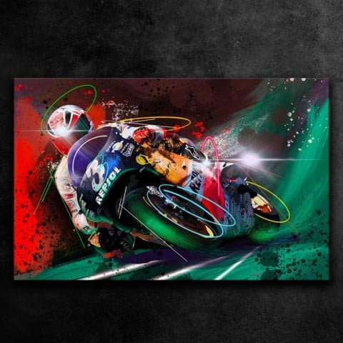 ALEX CRIVILLE REPSOL HONDA GP 500 HRC - GRAFFITI STYLE ARTWORK