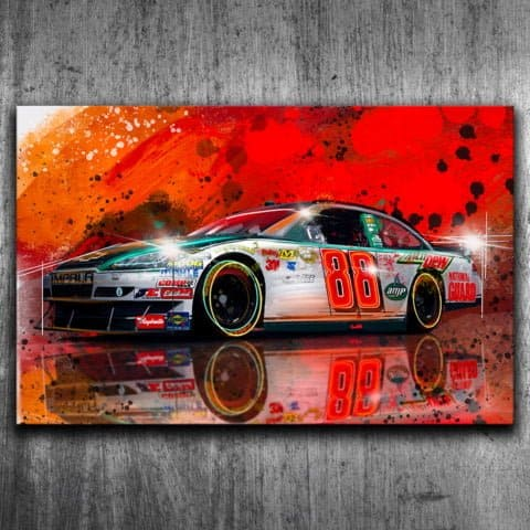 DALE EARNHARDT JR NASCAR - GRAFFITI STYLE ARTWORK