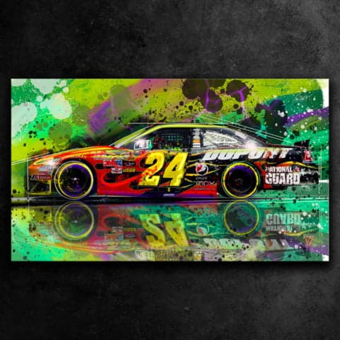 JEFF GORDON NASCAR - GRAFFITI STYLE ARTWORK