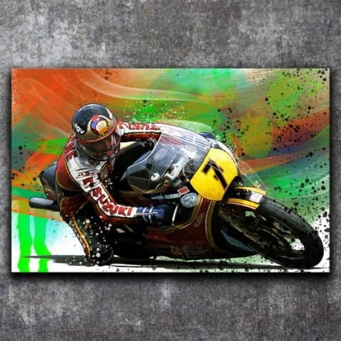 BARRY SHEENE HERON SUZUKI TRIBUTE - POSTER PRINT - GRAFFITI STYLE ARTWORK