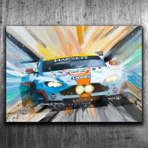 GULF ASTON MARTIN DBR9 - GRAFFITI STYLE ARTWORK