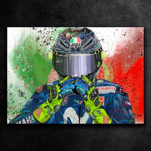VALENTINO ROSSI THE DOCTOR - GRAFFITI STYLE ARTWORK
