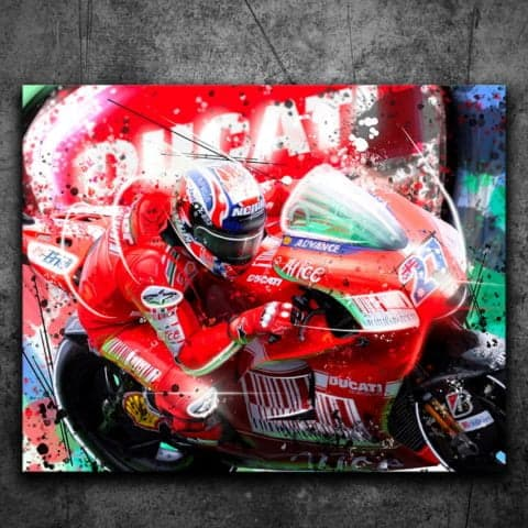 CASEY STONER WORLD CHAMPION MOTO GP - Graffiti Style Print