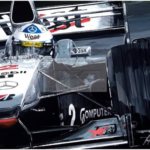 David Coulthard 2000 McLaren MP4/15 - Giclee Print