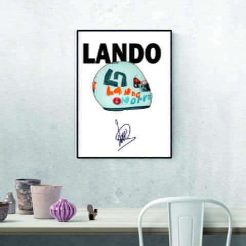 Lando Norris British GP Helmet Print McLaren F1 Art Formula 1 2020 Helmet Poster Print
