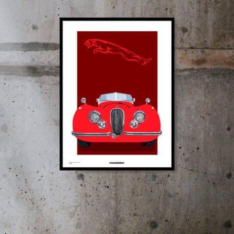 Jaguar XK Limited Edition Poster