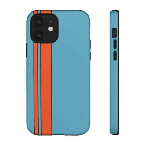 Racing Livery Collection - Gulf Colour Pattern Premium Phone Case Cover