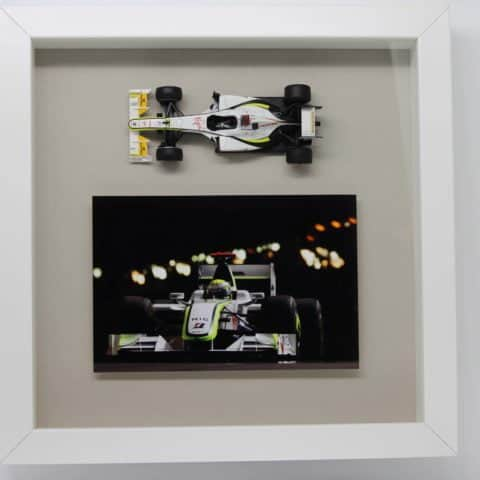 Framed model of Brawn GP car
