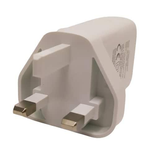 Image shows the UK plug contact pins.