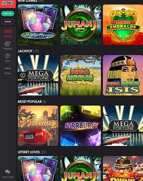 LetsBet Casino Review