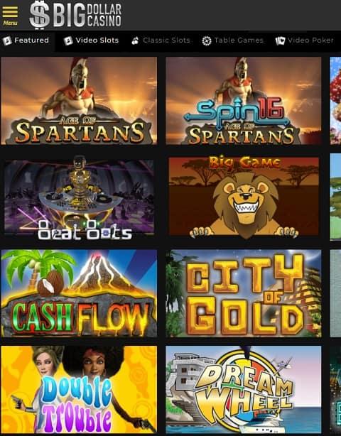 Big Dollar Casino free spins