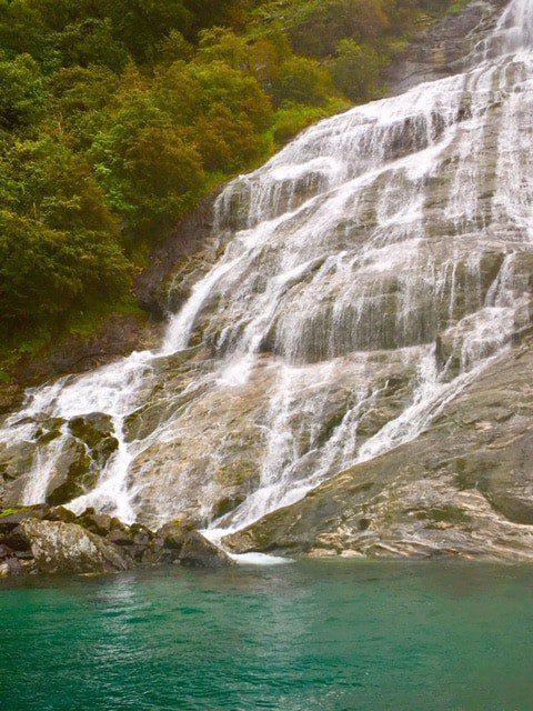 Geiranger Fjord Waterfall.