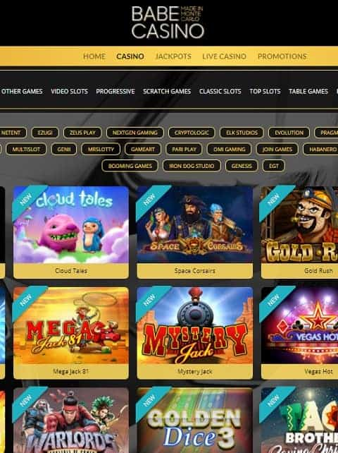Babe Casino Review - online & mobile games from Microgaming