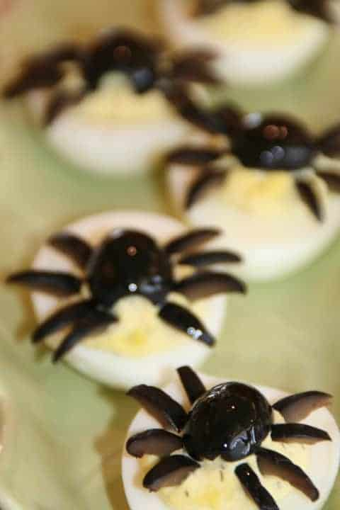 15 Halloween Party Appetizer Recipes - Deviled Spider Eggs