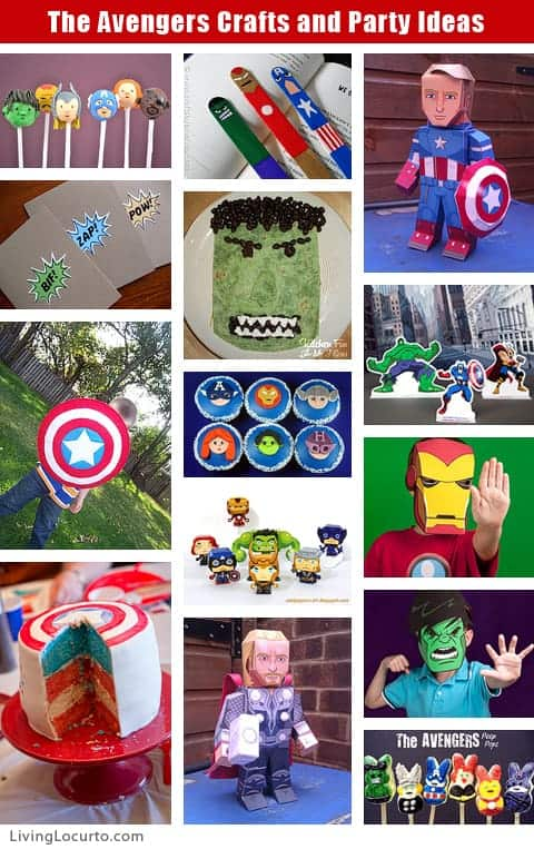 The Avengers Crafts & Party Ideas - Cake Pops - Free Party Printables