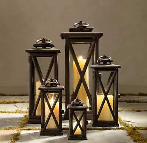 lanterns bronze outdoor candle holders