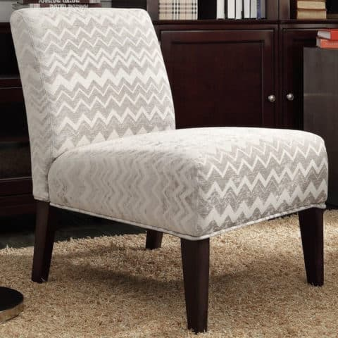 single slipper chair with grey motif
