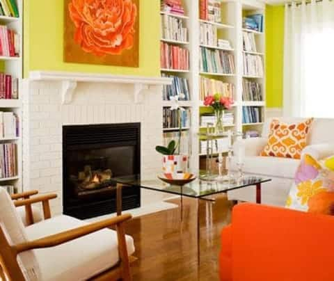 Smart living room with colorful combination