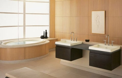 Minimalist design of Bathroom with soft color