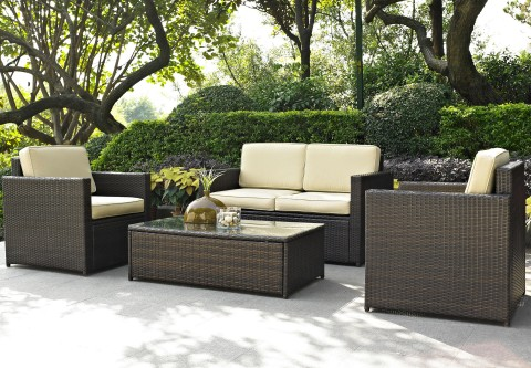 outdoor furniture with rattan material