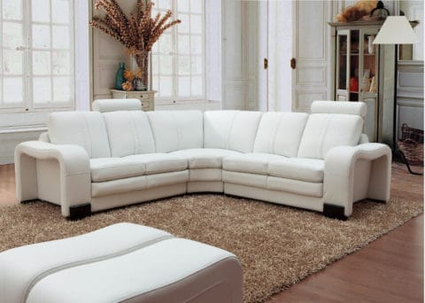 Contemporary white leather couch covers