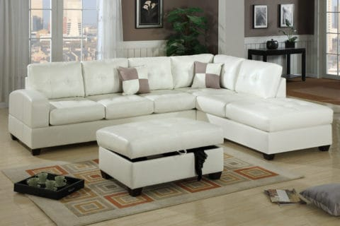 White leather couch covers for sectional model